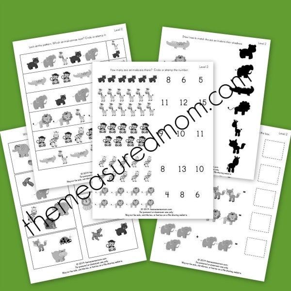 level 2 zoo worksheets - the measured mom