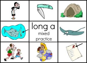 Looking for free long vowel printables? Get this set of 11 word family mats and cards for long a.