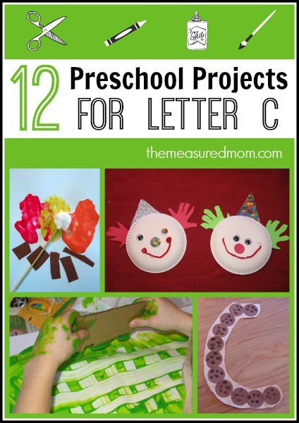Looking for preschool arts and crafts for letter C? We've got 12 of them!