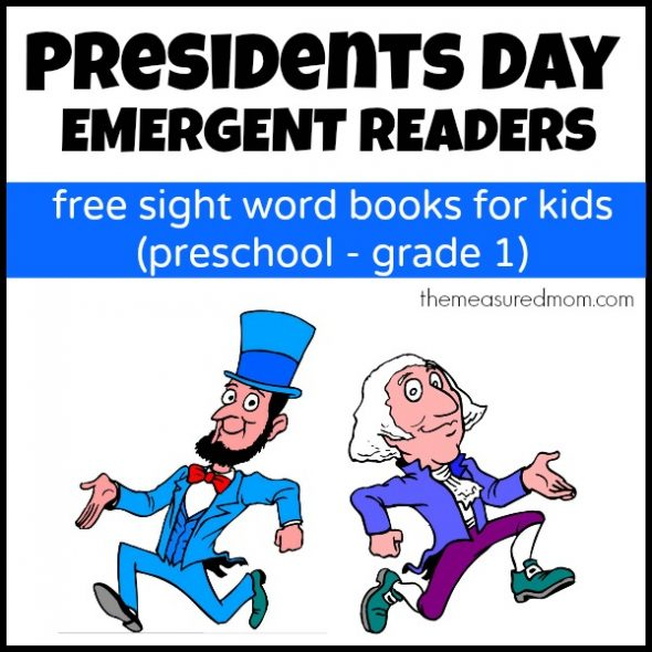 Check out my set of four FREE Presidents Day emergent readers!