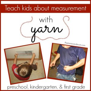Teach measurement to kids using yarn