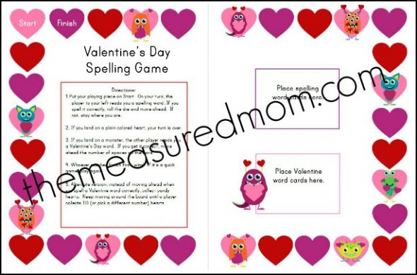 free valentine's day spelling game - the measured mom, Ideas