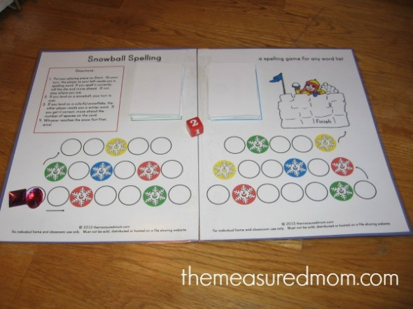 Check out this free winter spelling activity - use with any word list for kids from grades 1-4!