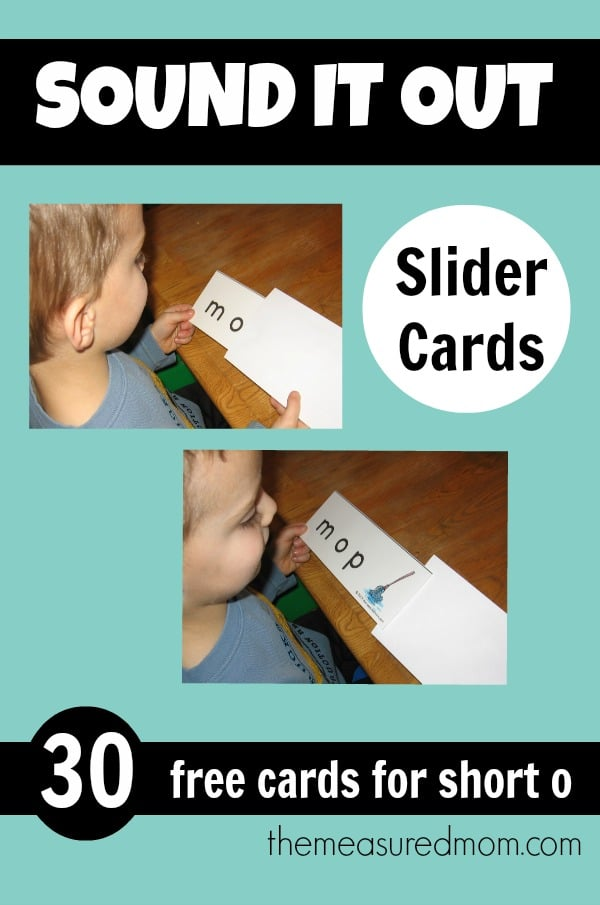 Teach kids to sound out words with these free printable word slider cards!