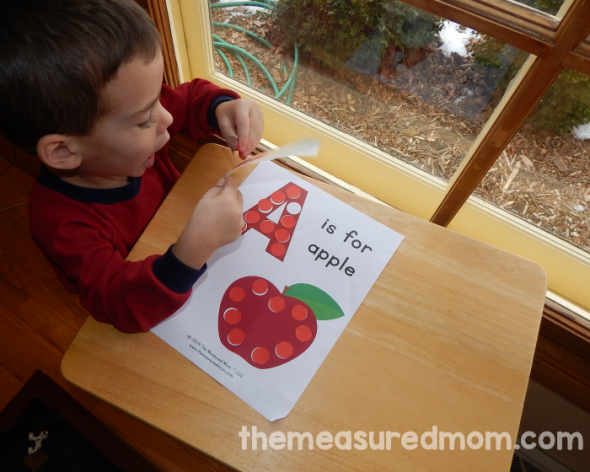 Get a free letter A printable for your toddler or preschooler.