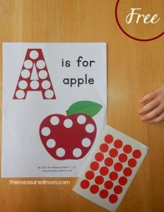Free Letter A Printable: A is for Apple