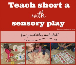 Teach short a with sensory play!