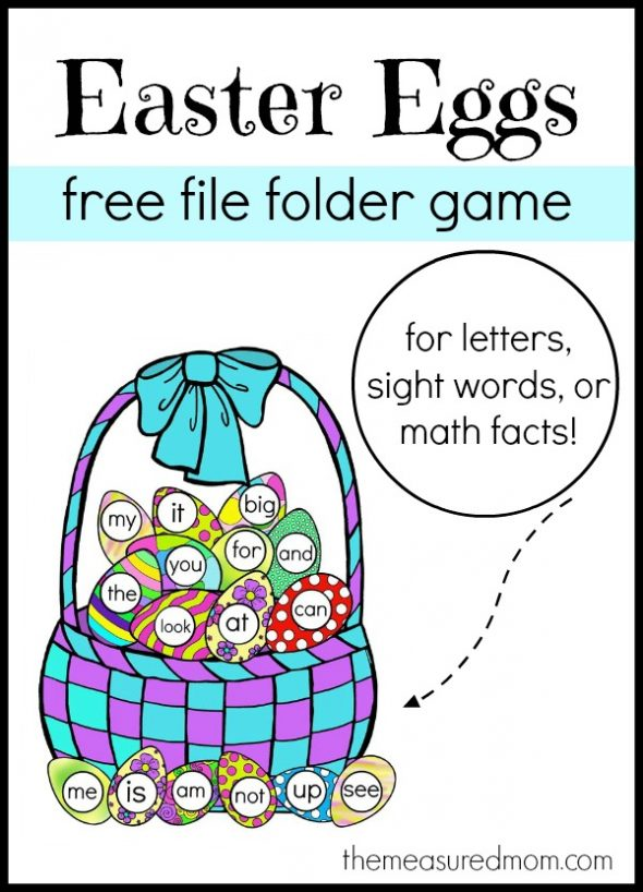 Free Easter File Folder Game! - The Measured Mom