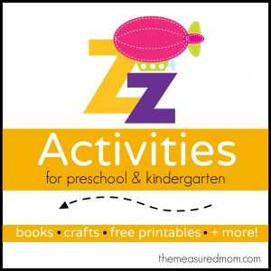 Letter Z Activities - the measured mom