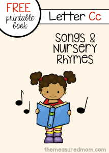 Letter C Rhymes and Songs – free letter book!