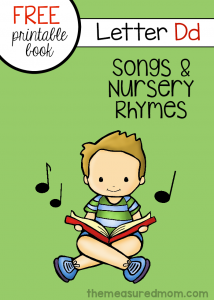 "Printable songs and nursery rhymes for kids – Little Letter ""D"" Book"