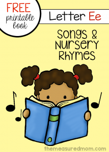 Letter E Rhymes & Songs mini-book