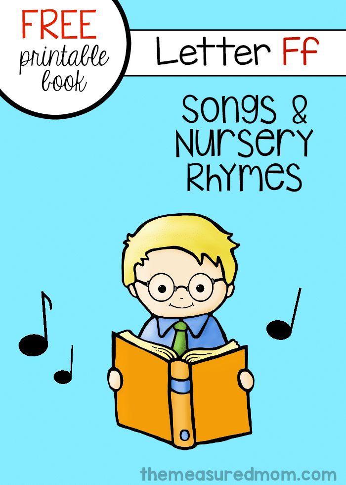 letter f minibook rhymes songs
