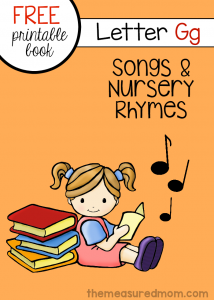 Nursery rhymes and songs for letter G (free letter book!)