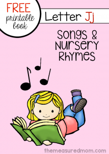 List of nursery rhymes and songs for letter J (free printable book!)