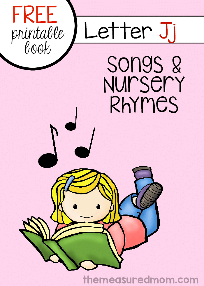 graphic regarding Letter J Printable referred to as Record of nursery rhymes and music for letter J (free of charge