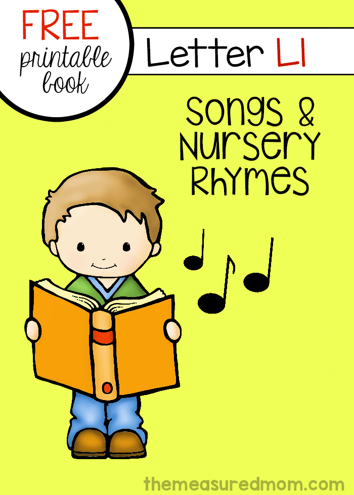 Looking for Letter L rhymes and songs to sing with your preschoolers? Here's a colorful book of six songs and rhymes that you can print for free!