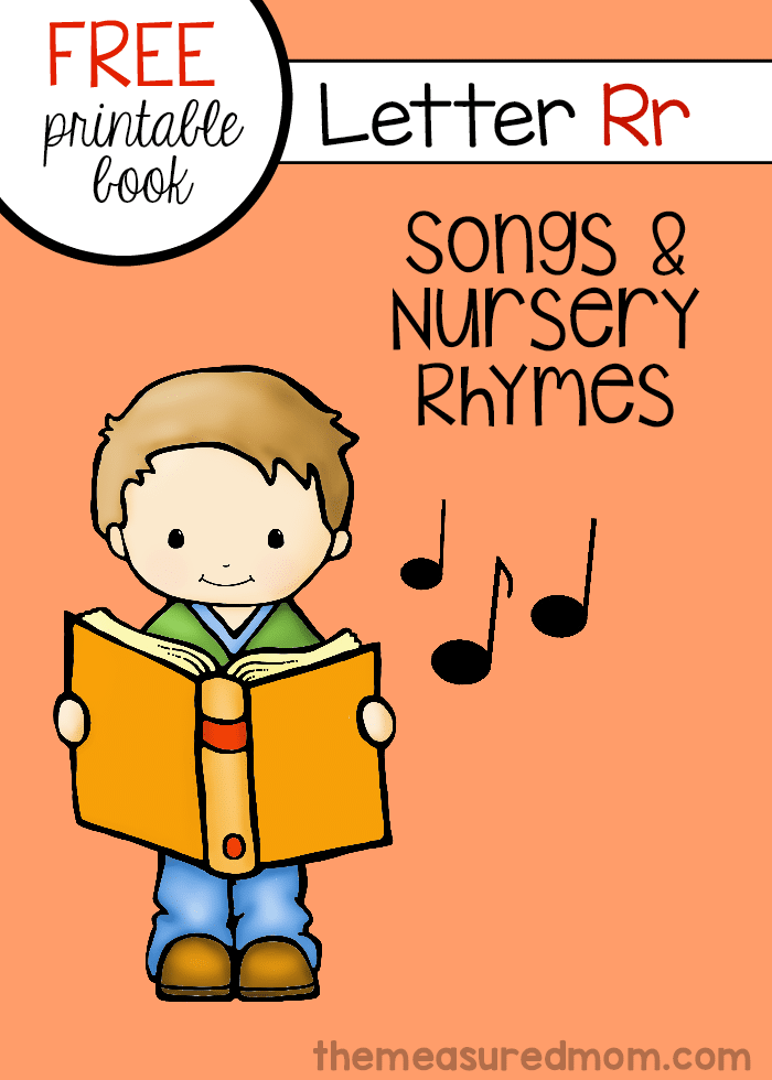 photo relating to Free Printable Nursery Rhymes named Nursery rhymes and audio for letter R - The Calculated Mother