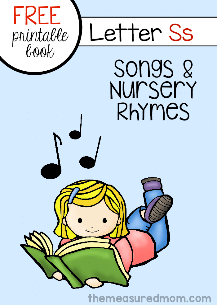Check out this free printable mini-book of songs and rhymes for letter S!
