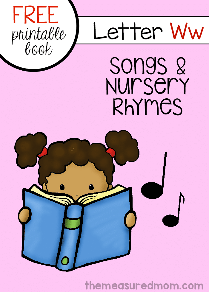 Print this free mini-book for a set of rhymes for letter W!