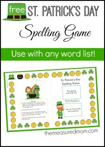 Free St. Patrick's Day Spelling Activity for any word list!
