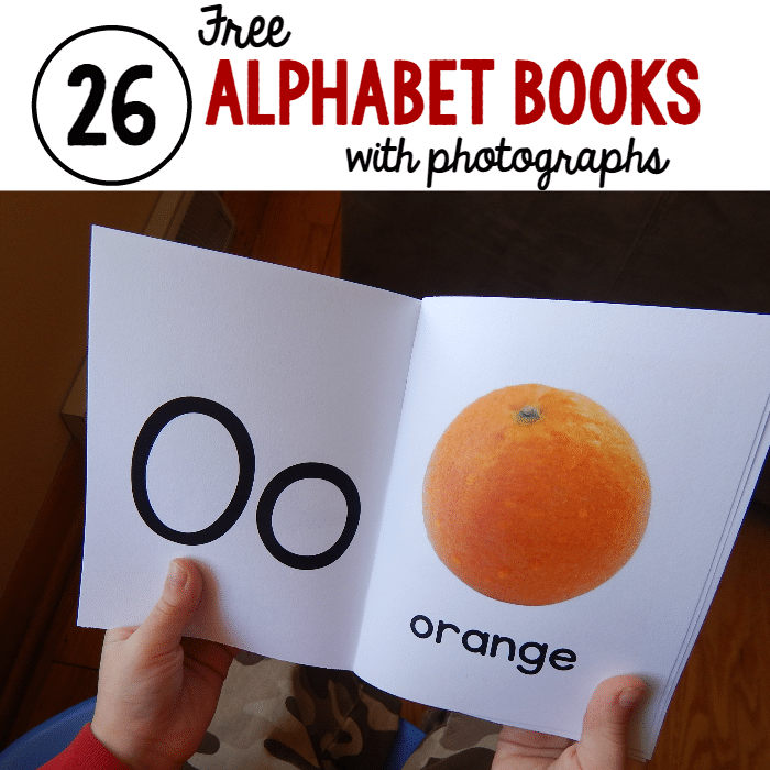 26 alphabet books with photographs square image