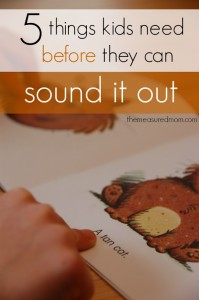 5 things kids need before they can sound it out