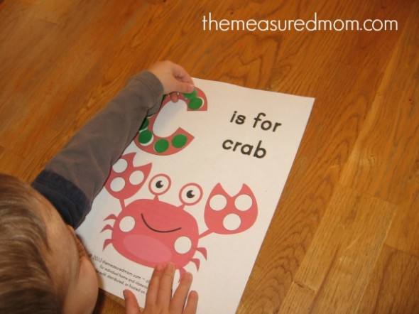C is for crab printable