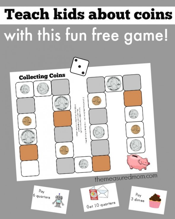 Teach the names of coins with this free printable game!