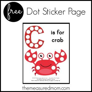 Free Letter C Printable: C is for Crab