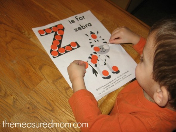 free letter z printable 3 - the measured mom