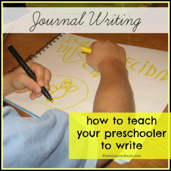 how to teach preschoolers to write - the measured mom