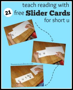 More word slider cards! (short u)