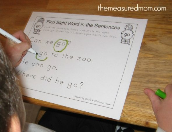 We love these sight word worksheets. So many hands-on, creative ways to learn to read. And most of them are FREE!