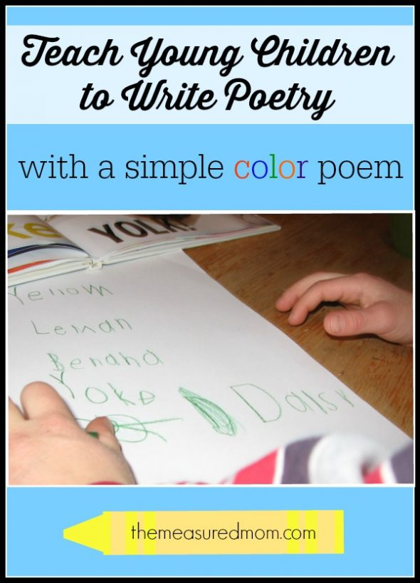 teach children to write poetry with a simple color poem find a complete lesson at