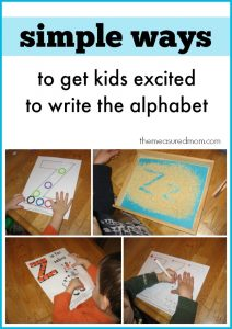 Simple ways to get kids excited to write the alphabet