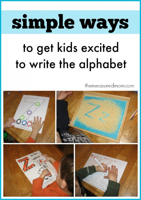 ways to get kids excited to write the alphabet