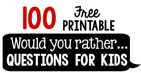 graphic regarding Would You Rather Cards Printable known as 100 Would by yourself instead issues for young children - The Calculated Mother