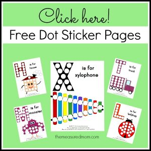 Dot Sticker Pages - free from the measured mom