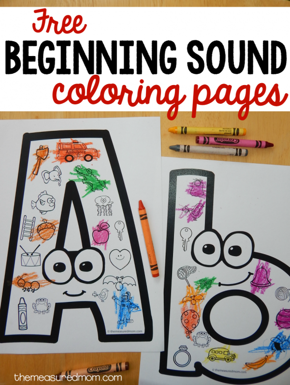 These FREE Beginning Sounds Coloring Pages Are A Great Activity For Preschool Or Kindergarten
