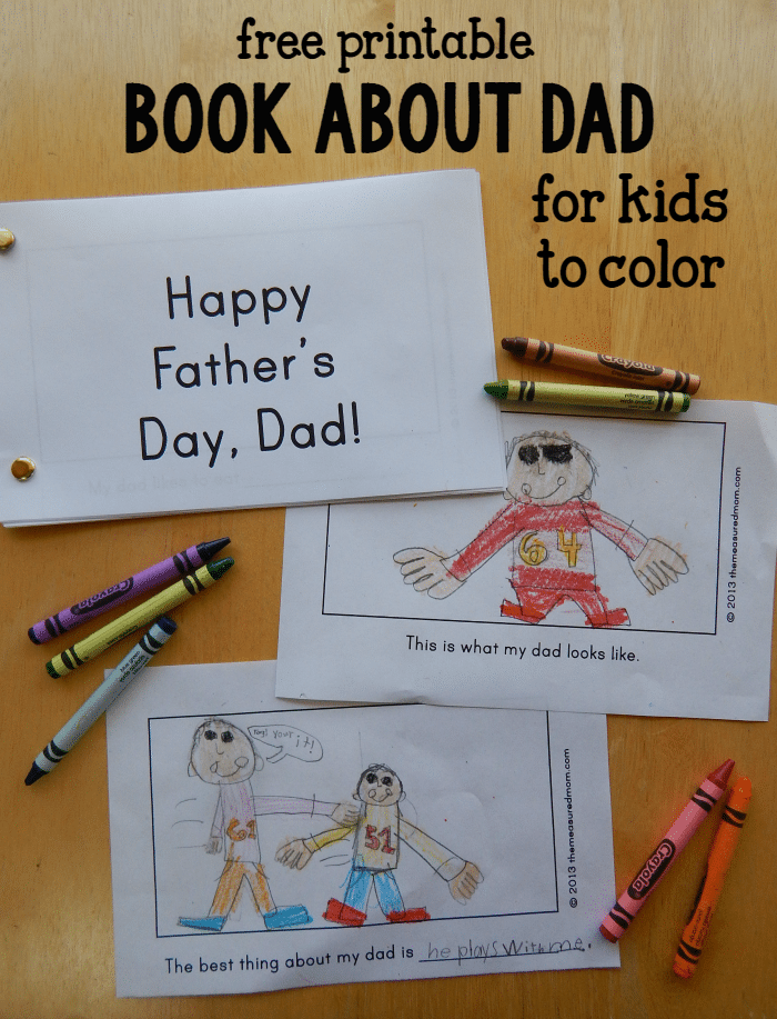 Homemade Father S Day Gift From Kids A Book About Dad The