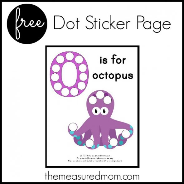 Get this free letter O printable: O is for Octopus!