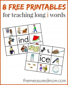 Learn to read long i words with these FREE Read 'n Stick Mats
