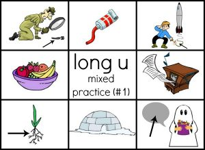 long u mixed practice read 'n stick #1 reduced size