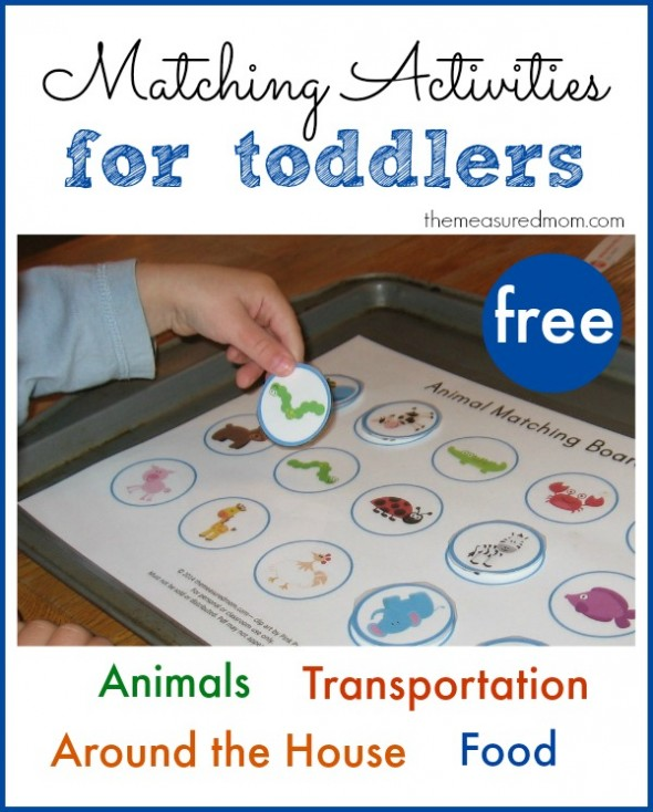 image about Printable Activities for Toddlers identify Printable No cost Matching Functions for Infants - The