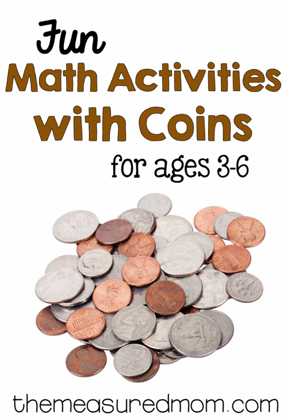 What a fun collection of coin activities for preschool, kindergarten, and first grade!