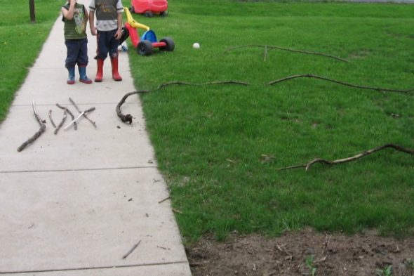 Looking for some outdoor math ideas? Here you'll find a variety of activities for kids in preschool, kindergarten, and first grade.