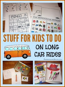 Road Trip Activities for Kids Ages 2-8