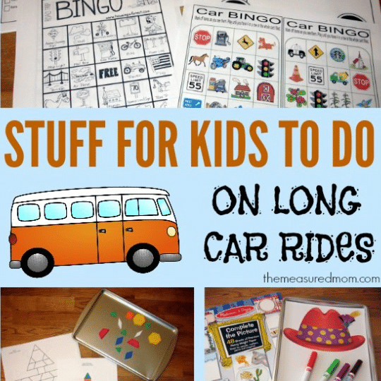Huge collection of car games and road trip ideas for kids