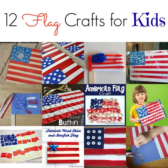 4th of July crafts - 12 flag crafts
